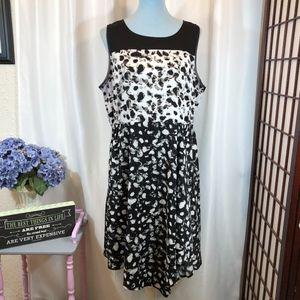 Simply Vera Wang Black White Asymmetrical Dress XL